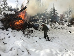 Photo of DRP burning logging slash